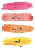 Watercolour Sight Words
