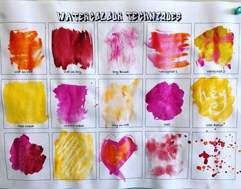 Watercolour Techniques Template Pack