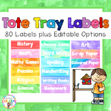 Watercolour Tote Tray Labels {EDITABLE}