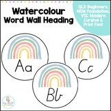 Watercolour Word Wall Headings