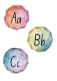 Watercolour Word Wall Letters