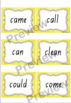 Watercolour Word Wall Sight Words