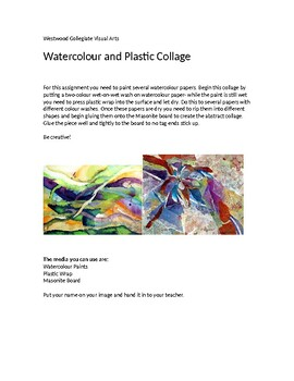 Watercolour and Plastic Collage