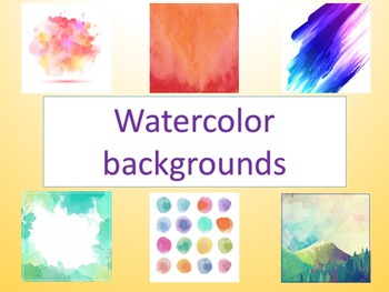 Watercolour backgrounds