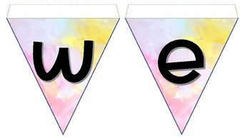 Watercolour bunting