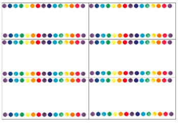 Watercolour dot border blank labels *not editable*