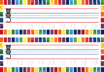 Watercolour name trace labels!