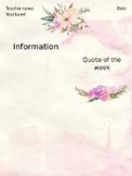 Watercolour newsletter template - editable