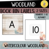 Watercolour Woodland Book Bin Labels I letter labels