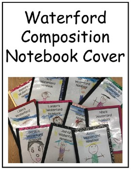 Waterford Composition Notebook Cover(EDITABLE)