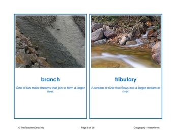 Waterforms Picture Activity Cards