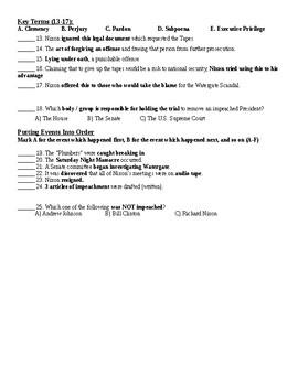 Watergate Quiz