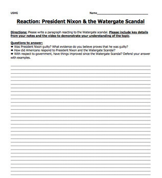 Watergate Scandal Assignment