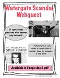 Watergate Scandal Webquest (President Nixon)