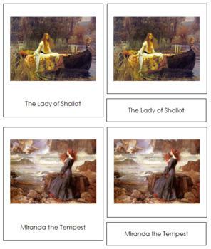 Waterhouse (John William) 3-Part Art Cards