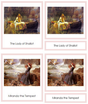 Waterhouse (John William) 3-Part Art Cards - Color Borders