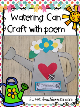 Watering Can Craft with Poem Spring Crafts