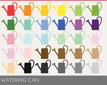 Watering Can Digital Clipart, Watering Can Graphics, Watering Can PNG