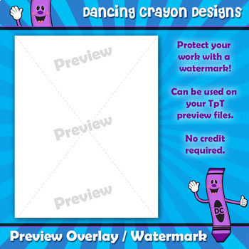 Watermark / Preview Overlay for your TpT Preview Files