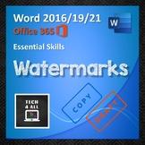 Microsoft Word: Watermarks