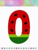 Watermelon 0 - 20 Number Posters (Unicorn theme) #backtoschool