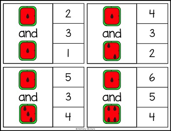 #thankful4u Watermelon Addition Clip Cards | Differentiated Math Centers