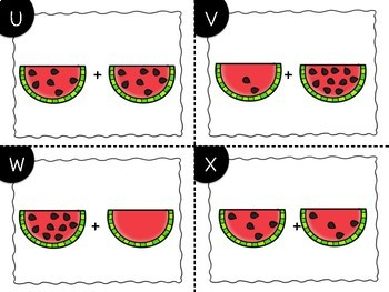 Watermelon Addition Task Cards