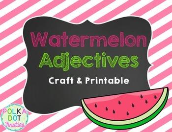 Watermelon Adjectives {FREEBIE}