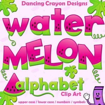 Watermelon Alphabet Letters Clip Art