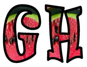 Watermelon Alphabet Bulletin Board Letters