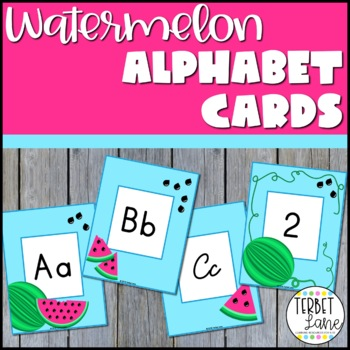 Watermelon Theme Alphabet Letters and Numbers Cards