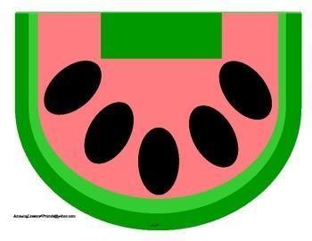 Watermelon Alphabet Matching Game