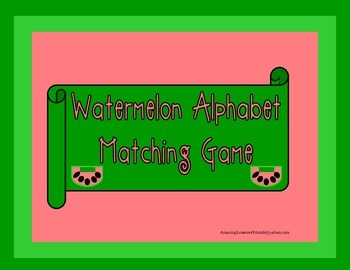 Watermelon Alphabet Matching Game