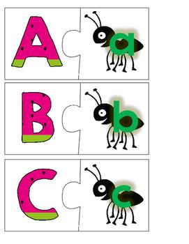 Watermelon Alphabet Matching Puzzles