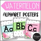 Watermelon Classroom Decor- Alphabet Poster Sets