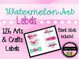 Watermelon Art Labels