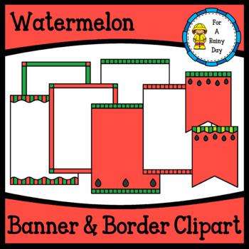 Watermelon Banner & Border Clipart