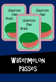 Watermelon Bathroom Passes