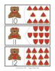 Count and Match 1-25 Cards - Watermelon Bears