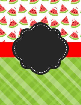Watermelon Binder Covers