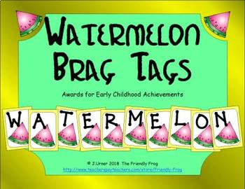 Watermelon Brag Tags