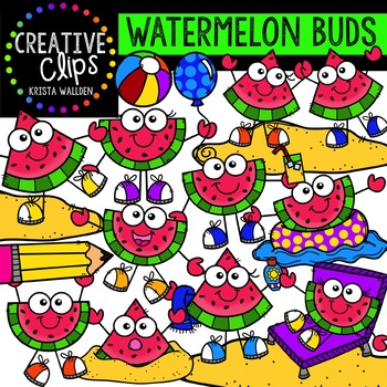 Watermelon Buds Clipart {Creative Clips Clipart}