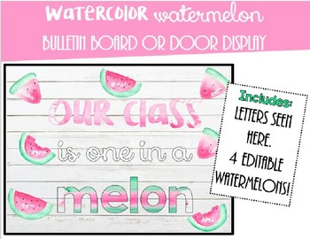 Watermelon Bulletin Board/Door Display