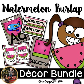 Watermelon & Burlap Decor Bundle