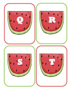 Watermelon Capital Alphabet Flash Cards