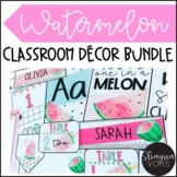 Watermelon Classroom Decor Bundle | Editable |