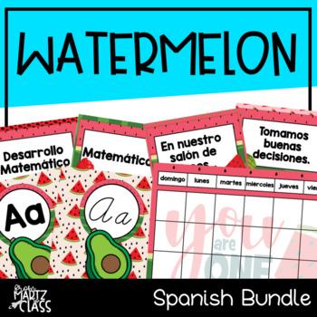 Watermelon Classroom Decor Bundle (SPANISH)