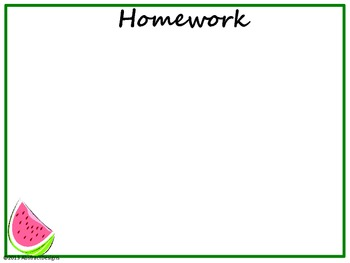 Watermelon Classroom Management Posters