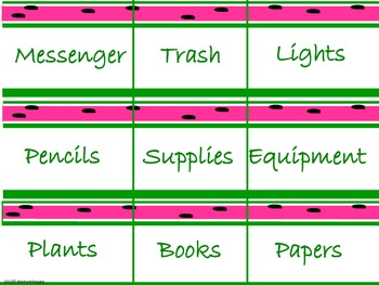 Watermelon Classroom Management Set