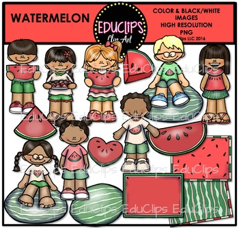 Watermelon Clip Art Bundle {Educlips Clipart}